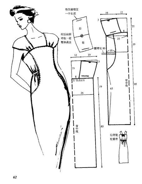 Вечернее платье в выкройках